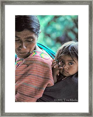 Francisca And Sandra Framed Print