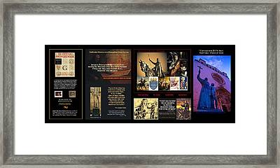 Franciscans And French Dauphins And Freemasons Oh Why? Framed Print by Peter Hedding
