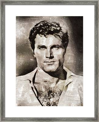 Franco Nero, Vintage Actor Framed Print by Mary Bassett