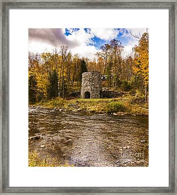 Framed Print featuring the photograph Franconia Fall by Anthony Baatz