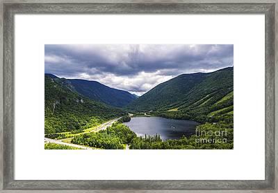 Franconia Notch And Eagle Lake Framed Print