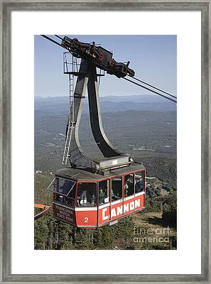 Franconia Notch State Park New Hampshire - Aerial Tramway Framed Print by Erin Paul Donovan