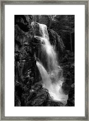 Franconia Notch Waterfall Framed Print