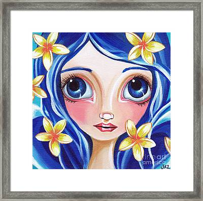Frangipani Fairy Framed Print by Jaz Higgins