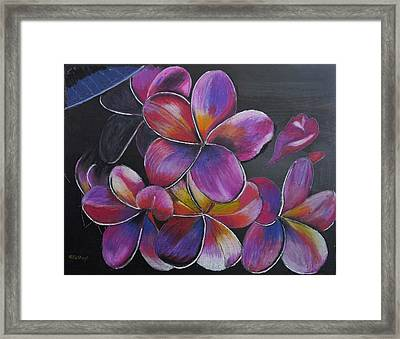 Framed Print featuring the pastel Frangipani  by Richard Le Page