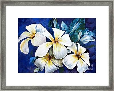 Frangipani Framed Print