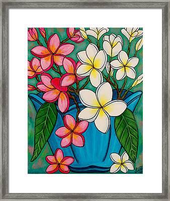 Frangipani Sawadee Framed Print by Lisa  Lorenz