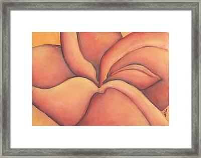 Frangipani Framed Print by Versel Reid