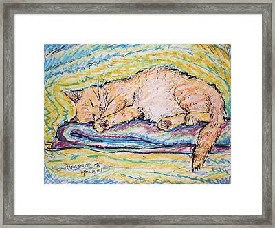 Frank Asleep Framed Print