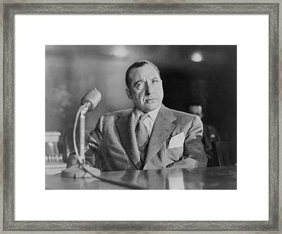 Frank Costello 1891-1973, Testifying Framed Print by Everett