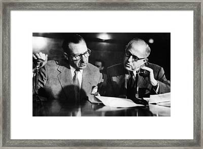 Frank Costello During Kefauver Framed Print by Everett