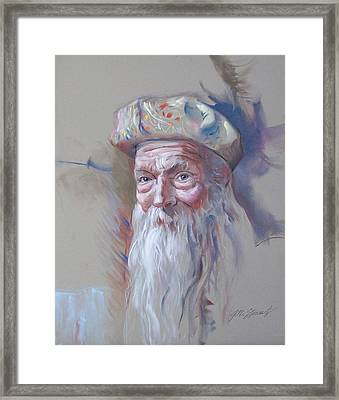 Framed Print featuring the pastel Frank by John Norman Stewart