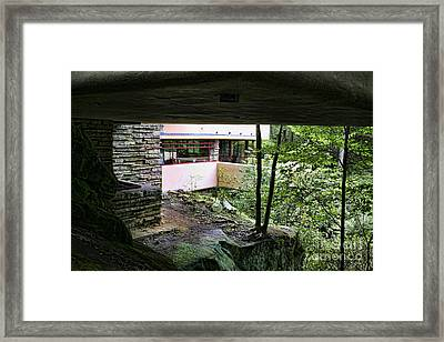 Frank Lloyd Wright Falling Water Framed Print by Chuck Kuhn