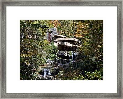 Frank Lloyd Wrights Fallingwater Framed Print