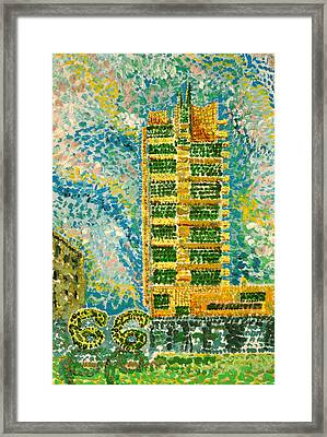 Frank Loyd Wright's Price Tower Framed Print by Ragon Steele