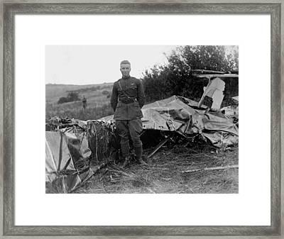 Frank Luke - Ww1 Fighter Ace Framed Print by War Is Hell Store