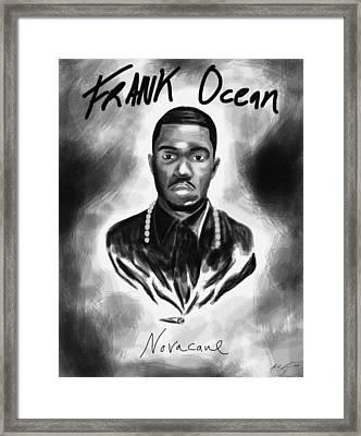 Frank Ocean Novacane Inspired Framed Print by Pierre Louis