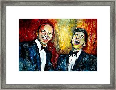 Frank Sinatra And Frankie Jr Framed Print