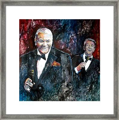 Frank Sinatra And Tom Dreesen Framed Print