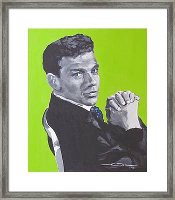 Frank Sinatra Blue Framed Print by Eric Dee