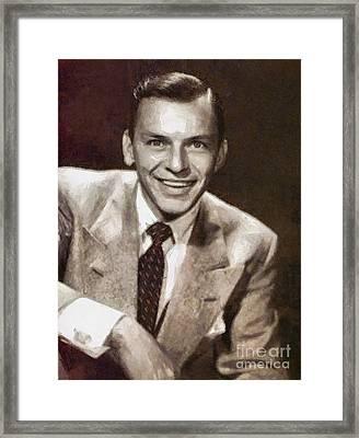 Frank Sinatra By Mary Bassett Framed Print