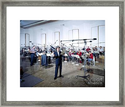 Frank Sinatra - Capitol Records Recording Studio #2 Framed Print by The Titanic Project
