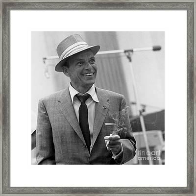 Frank Sinatra - Capitol Records Recording Studio #3 Framed Print by The Titanic Project