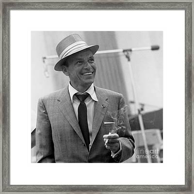 Frank Sinatra - Capitol Records Recording Studio #3 Framed Print