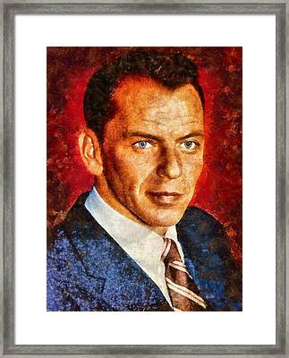 Frank Sinatra Framed Print by Esoterica Art Agency