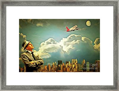 Frank Sinatra Fly Me To The Moon 20170506 Framed Print