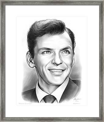 Frank Sinatra Framed Print by Greg Joens