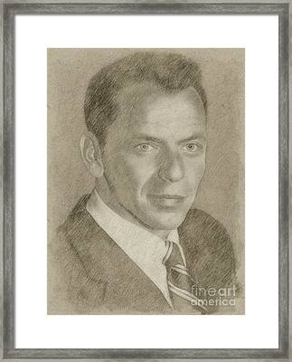 Frank Sinatra Hollywood Singer And Actor Framed Print by Frank Falcon
