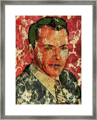Frank Sinatra Hollywood Singer And Actor Framed Print by Mary Bassett