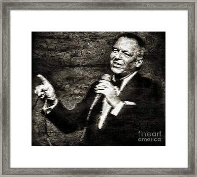 Frank Sinatra -  Framed Print