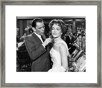 Frank Sinatra In Ocean's 11. Framed Print
