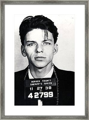 Frank Sinatra Mug Shot Vertical Framed Print by Tony Rubino