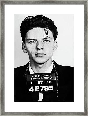 Frank Sinatra Mugshot Framed Print