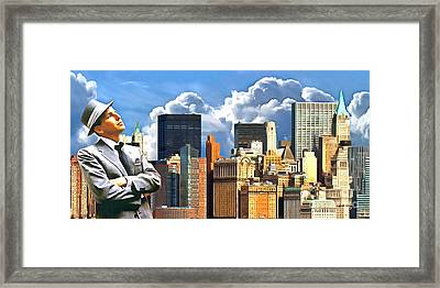 Frank Sinatra New York New York 20170507 Framed Print