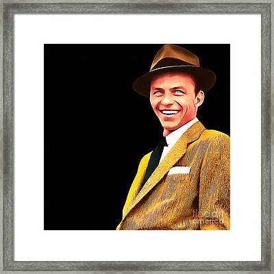 Frank Sinatra Old Blue Eyes 20160922v2 Square Framed Print