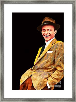 Frank Sinatra Old Blue Eyes 20160922v2 Framed Print by Wingsdomain Art and Photography