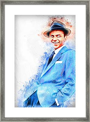 Frank Sinatra Old Blue Eyes 20161101 Framed Print