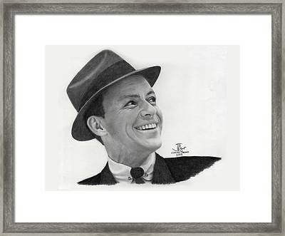 Frank Sinatra Old Blue Eyes Framed Print