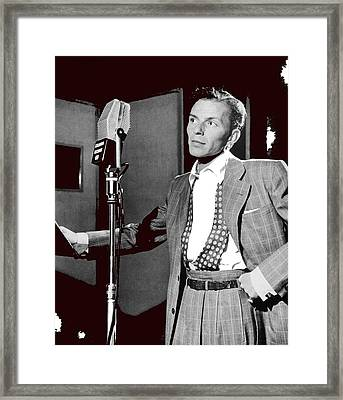 Frank Sinatra William Gottlieb Photo Liederkranz Hall New York City 1947-2015 Framed Print by David Lee Guss