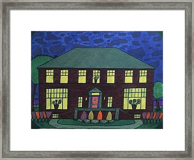 Frank Spies Home. Historical Menominee Art. Framed Print