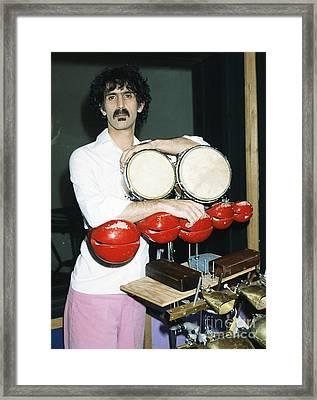 Frank Zappa 1982 Framed Print