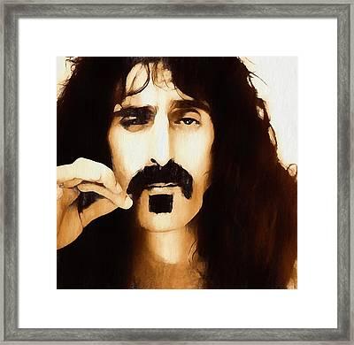 Frank Zappa Framed Print by Dan Sproul