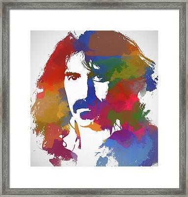 Frank Zappa Watercolor Framed Print