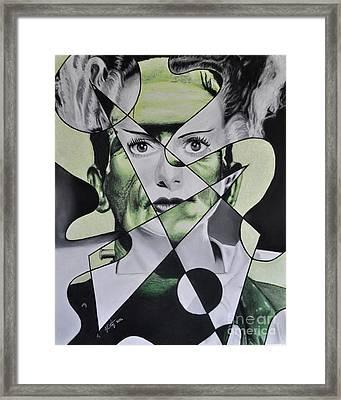 Franken-bride Framed Print by Joe Dragt