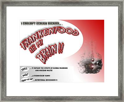Framed Print featuring the photograph Frankenfood by Christopher Woods