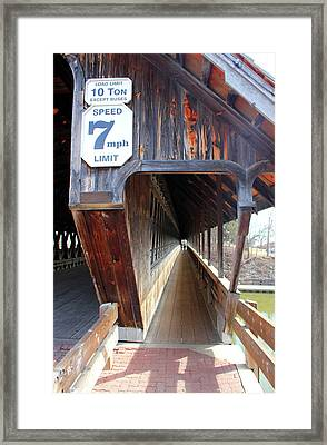 Frankenmuth Covered Bridge Tunnel Walkway View Framed Print